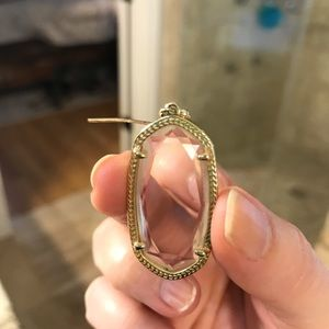 Kendra Scott Elle Earrings - clear and gold